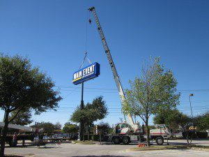 Crane Rental service for Sign Installations